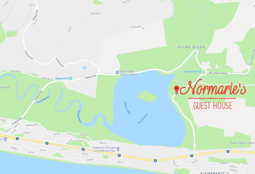Normaries Guesthouse Map & Directions, Wilderness